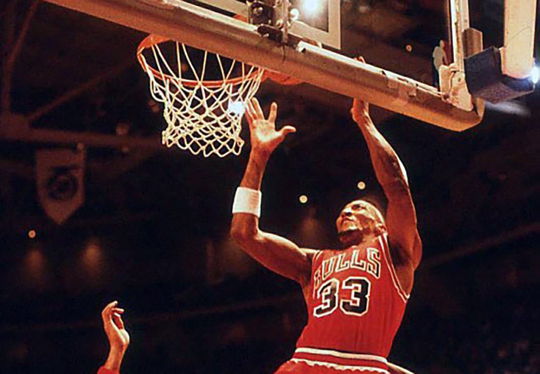 Scottie Pippen con los Bulls. Foto de Forniés