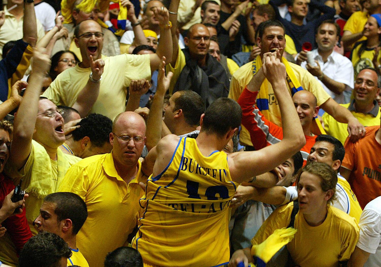 Maccabi Tel Aviv's Burstien Tal celebrat